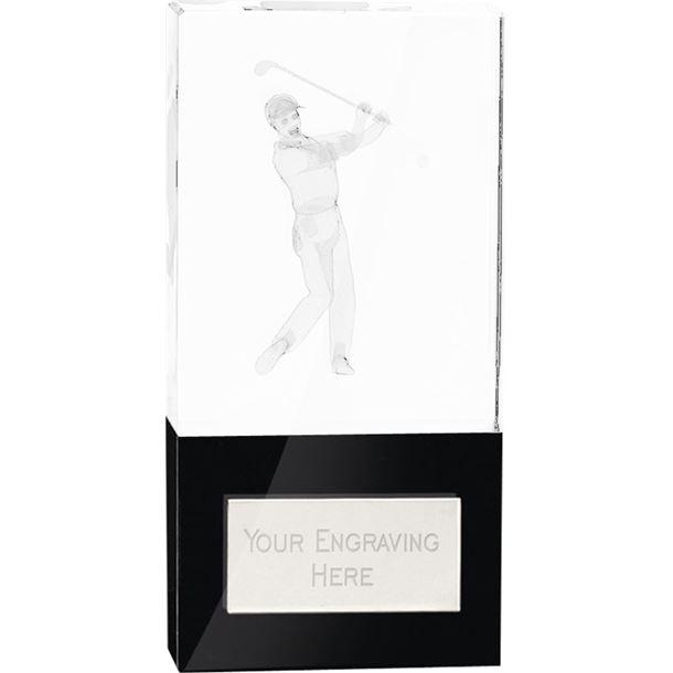 "London Golfer Crystal Award 14cm (5.5"")"