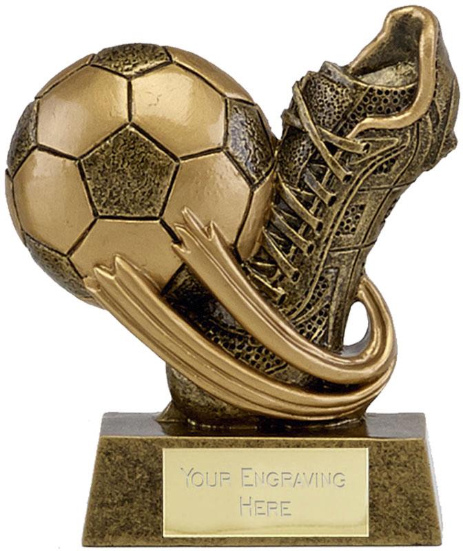 "Epic Resin Mini Football Boot & Ball Trophy 7.5cm (3"")"