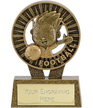 "Kidz Football Resin Trophy 12cm (4.75"")"