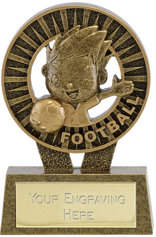 "Kidz Football Resin Trophy 10cm (4"")"