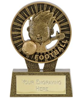 "Kidz Football Resin Trophy 10cm (4"")"