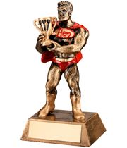 "Antique Gold Resin Darts Hero Trophy 16.5cm (6.5"")"