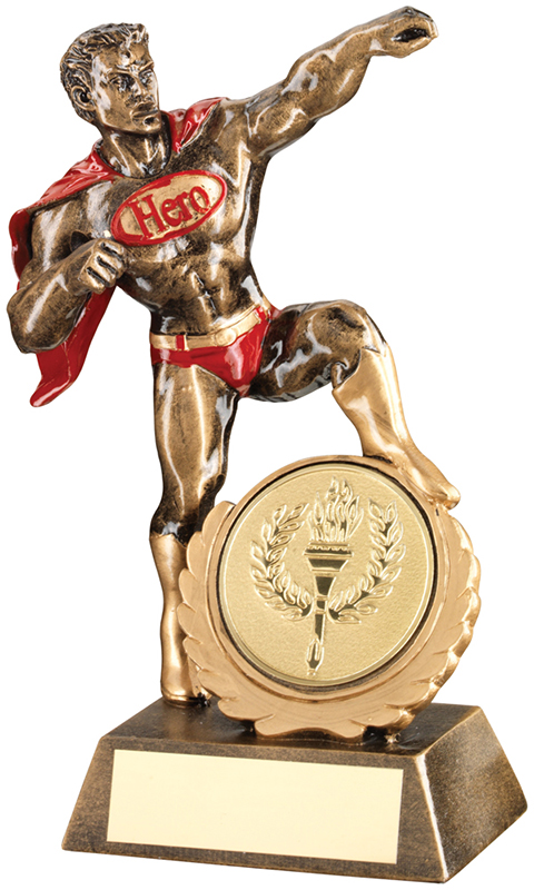 "Antique Gold Resin Multi Award Hero Trophy 18.5cm (7.25"")"