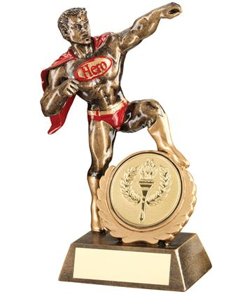"Antique Gold Resin Multi Award Hero Trophy 18.5cm (7.25"")"