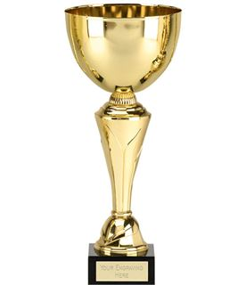 "Gold Inferno Presentation Cup On Detailed Stem With Marble Base 34.5cm (13.5"")"
