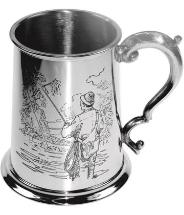 "1pt Sheffield Pewter Fisherman Tankard 11.5cm (4.5"")"