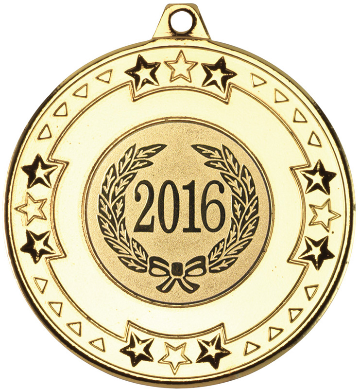 "2016 Gold Star & Pattern Medal 50mm (2"")"