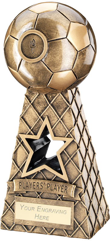 "Players Player Antique Gold Football Net Pyramid Trophy 26cm (10.25"")"