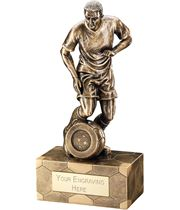 "Antique Gold Male Football Figure Trophy 25.5cm (10"")"