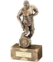 "Antique Gold Male Football Figure Trophy 14.5cm (5.75"")"