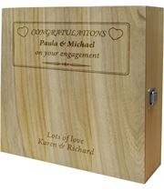 "Engagement Congratulations Triple Wine Box - Heart Design 35cm (13.75"")"