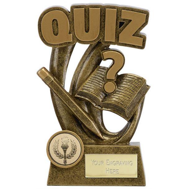 "Epic Resin Quiz Trophy 14cm (5.5"")"