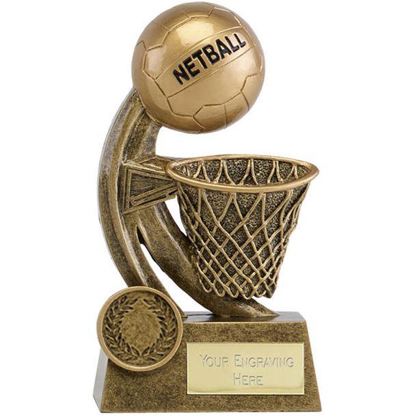 "Epic Resin Netball Trophy 14cm (5.5"")"