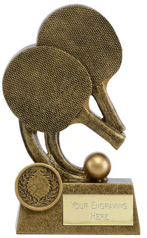 "Epic Resin Table Tennis Trophy 14cm (5.5"")"