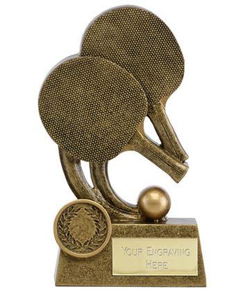 "Epic Resin Table Tennis Trophy 14cm (5.5"")"