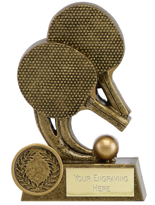 "Epic Resin Table Tennis Trophy 11.5cm (4.5"")"