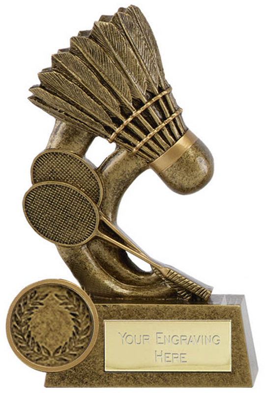"Epic Resin Badminton Trophy 11.5cm (4.5"")"