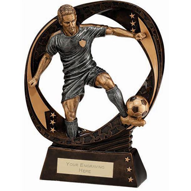 "Typhoon Football Figure Trophy 17cm (6.75"")"