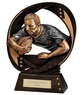 "Typhoon Rugby Trophy 17cm (6.75"")"