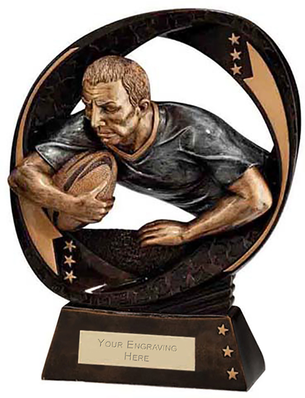 """Typhoon Rugby Trophy 23cm (9"""")"""