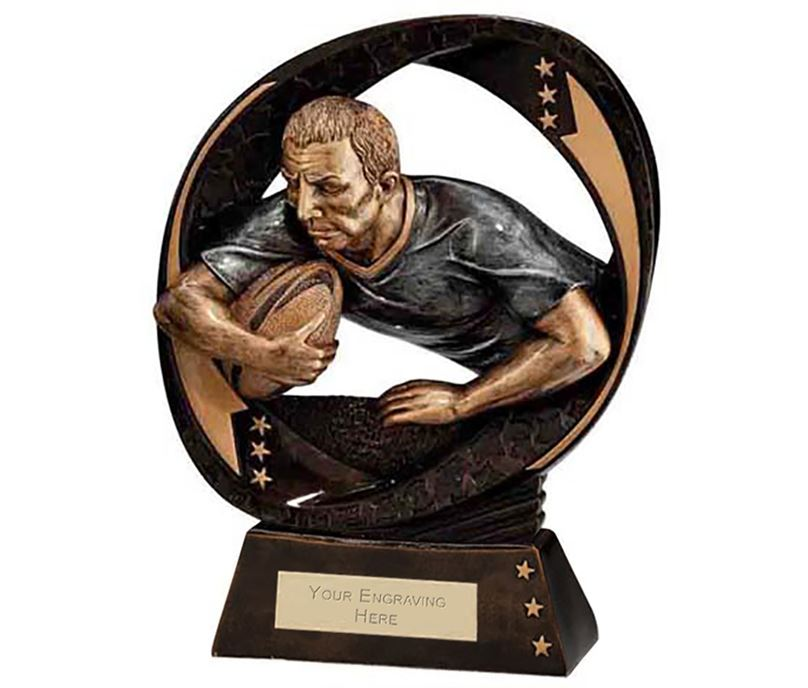 """Typhoon Rugby Trophy 17cm (6.75"""")"""