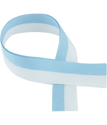 "Sky Blue & White Medal Ribbon 76cm (30"")"