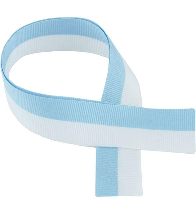 """Sky Blue & White Medal Ribbon 80cm (32"""")"""