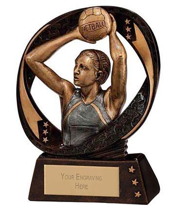 "Typhoon Netball Trophy 9cm (3.5"")"