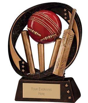 "Typhoon Cricket Trophy 9cm (3.5"")"