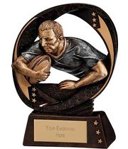 """Typhoon Rugby Trophy 9cm (3.5"""")"""