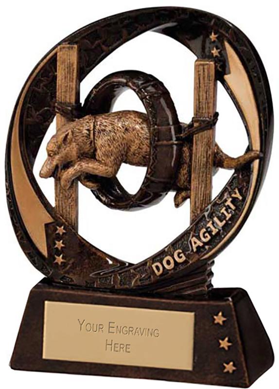 "Typhoon Dog Agility Trophy 9cm (3.5"")"