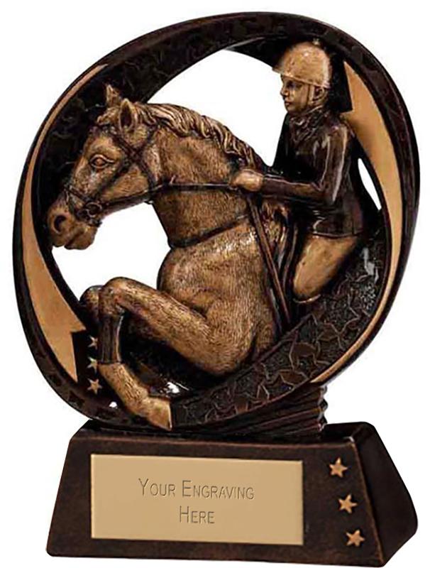 "Typhoon Equestrian Trophy 9cm (3.5"")"