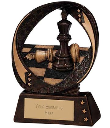 "Typhoon Chess Trophy 9cm (3.5"")"