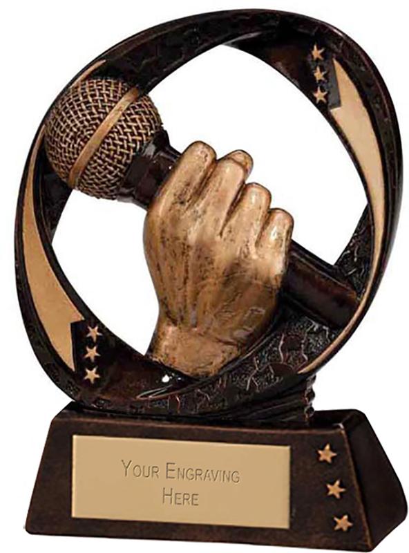 """Typhoon Karaoke Trophy 9cm (3.5"""")"""