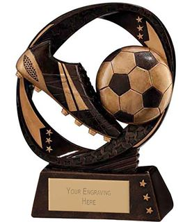 "Typhoon Football Boot & Ball Trophy 9cm (3.5"")"