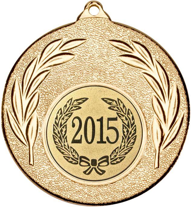 """2015 Gold Leaf Medal 50mm (2"""")"""