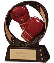 "Typhoon Boxing Trophy 9cm (3.5"")"