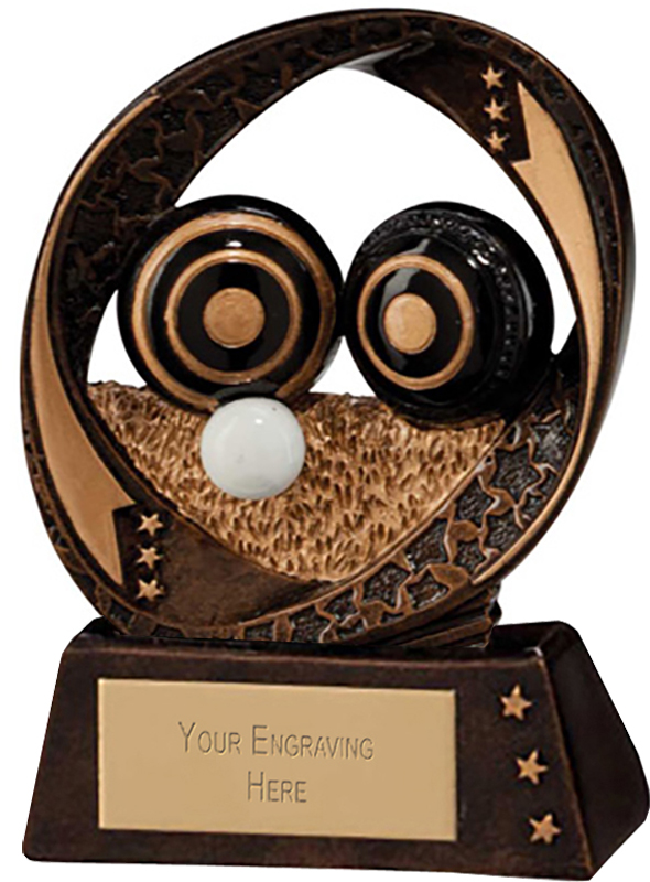 "Typhoon Lawn Bowls Trophy 9cm (3.5"")"