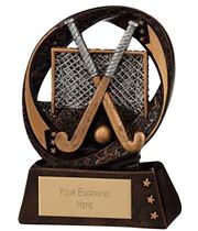 "Typhoon Field Hockey Trophy 9cm (3.5"")"