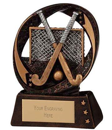 """Typhoon Field Hockey Trophy 9cm (3.5"""")"""