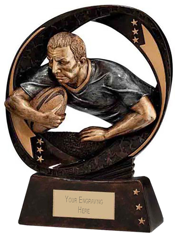 """Typhoon Rugby Trophy 13cm (5"""")"""
