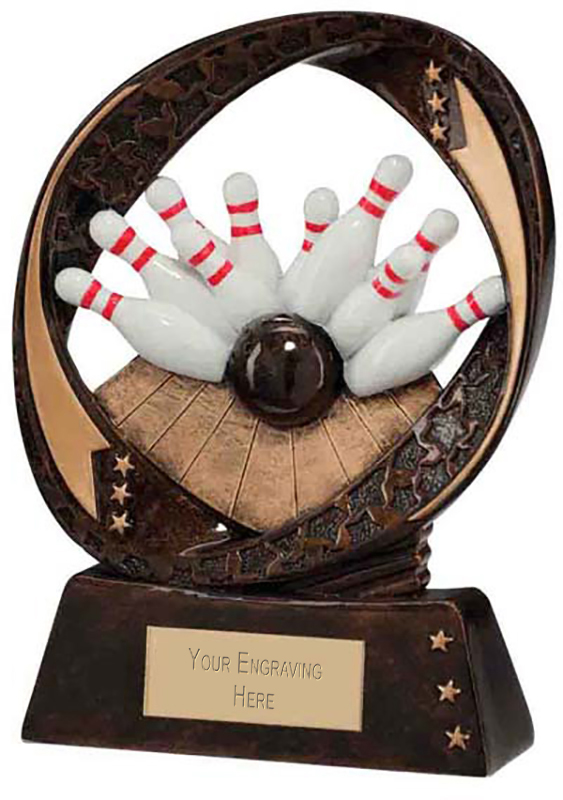 "Typhoon Ten Pin Bowling Trophy 13cm (5"")"