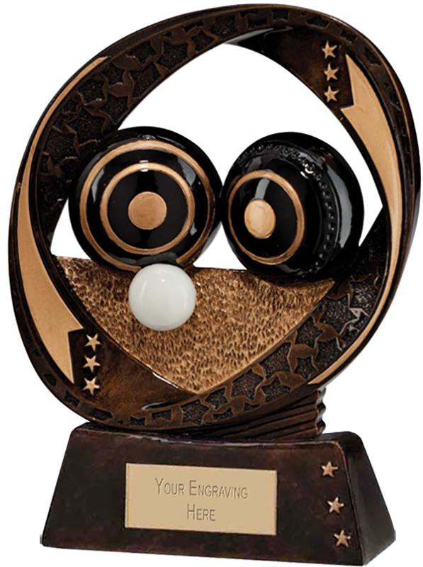 "Typhoon Lawn Bowls Trophy 13cm (5"")"