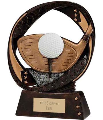 "Typhoon Golf Driver Trophy 13cm (5"")"