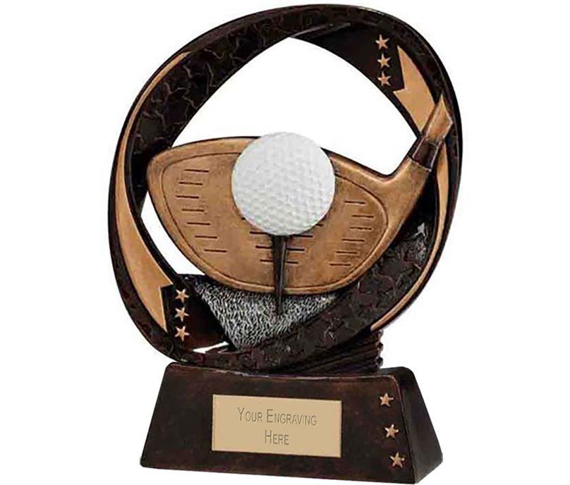 "Typhoon Golf Driver Trophy 13cm (5"")"