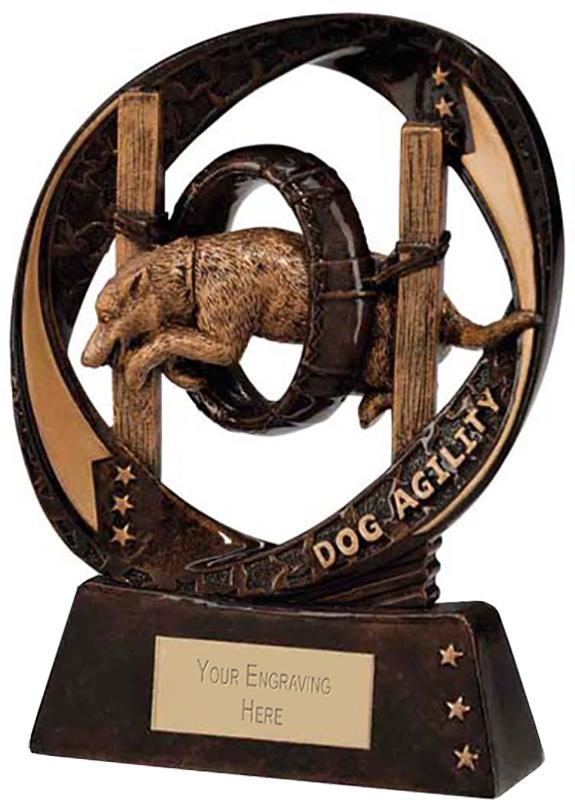 "Typhoon Dog Agility Trophy 13cm (5"")"