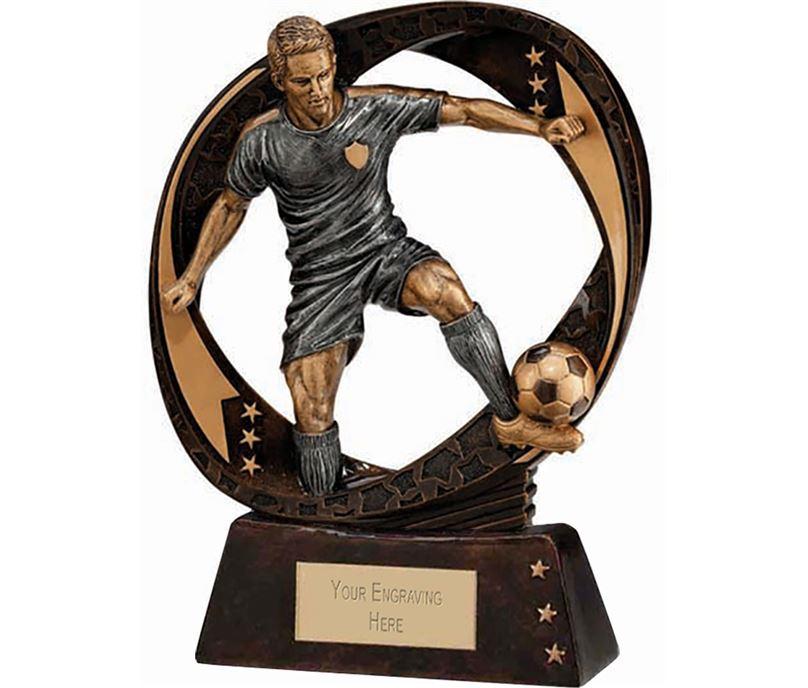 "Typhoon Football Figure Trophy 13cm (5"")"