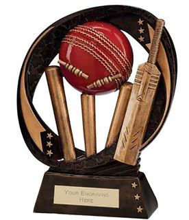 "Typhoon Cricket Trophy 23cm (9"")"