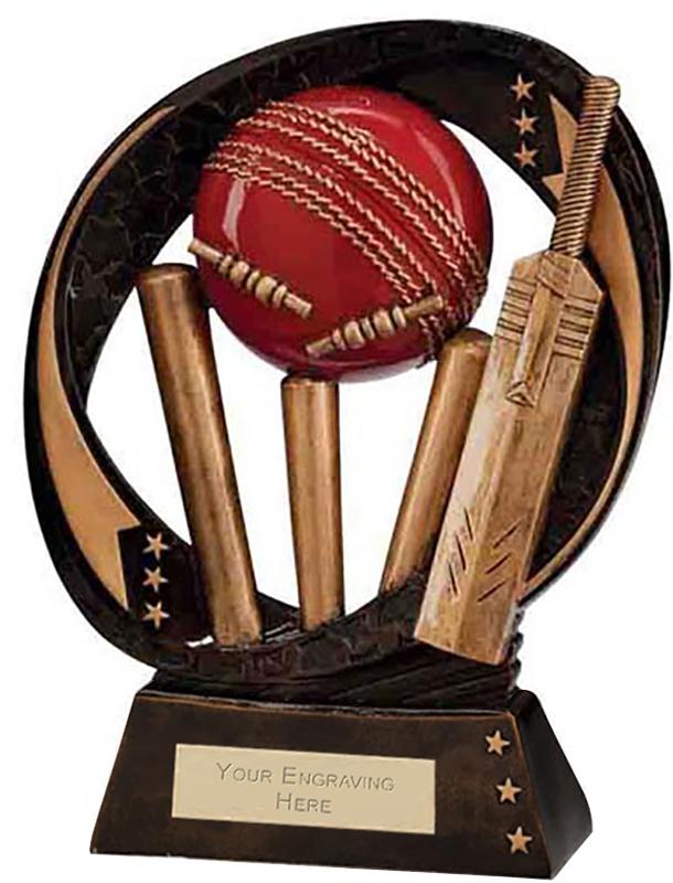 "Typhoon Cricket Trophy 23cm (9"")"