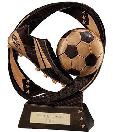 "Typhoon Football Boot & Ball Trophy 23cm (9"")"